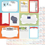 Scrapbook Customs - Travel Photo Journaling Collection - 12 x 12 Double Sided Paper - Wisconsin - Journal