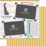 Scrapbook Customs - Travel Photo Journaling Collection - 12 x 12 Double Sided Paper - Delaware - Quick Page Journal