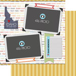 Scrapbook Customs - Travel Photo Journaling Collection - 12 x 12 Double Sided Paper - Idaho - Quick Page Journal