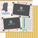 Scrapbook Customs - Travel Photo Journaling Collection - 12 x 12 Double Sided Paper - Mississippi - Quick Page Journal