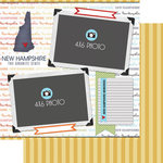 Scrapbook Customs - Travel Photo Journaling Collection - 12 x 12 Double Sided Paper - New Hampshire - Quick Page Journal