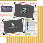 Scrapbook Customs - Travel Photo Journaling Collection - 12 x 12 Double Sided Paper - Pennsylvania - Quick Page Journal