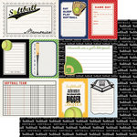 Scrapbook Customs - Sports Pride Collection - 12 x 12 Double Sided Paper - Softball - Journal