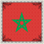 Scrapbook Customs - 12 x 12 Paper - Morocco - Sightseeing Flag