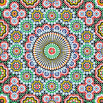 Scrapbook Customs - 12 x 12 Paper - Morocco - Sightseeing Pattern