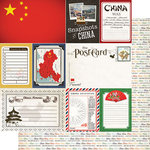 Scrapbook Customs - Travel Photo Journaling Collection - 12 x 12 Double Sided Paper - China