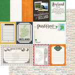Scrapbook Customs - Travel Photo Journaling Collection - 12 x 12 Double Sided Paper - Ireland