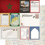 Scrapbook Customs - Travel Photo Journaling Collection - 12 x 12 Double Sided Paper - Morocco