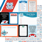 Scrapbook Customs - United States Military Collection - 12 x 12 Double Sided Paper - Coast Guard