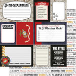 Scrapbook Customs - United States Military Collection - 12 x 12 Double Sided Paper - Marines