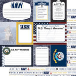 Scrapbook Customs - United States Military Collection - 12 x 12 Double Sided Paper - Navy