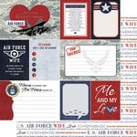 Scrapbook Customs - United States Military Collection - 12 x 12 Double Sided Paper - Air Force Wife