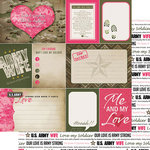 Scrapbook Customs - United States Military Collection - 12 x 12 Double Sided Paper - Army Wife