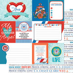 Scrapbook Customs - United States Military Collection - 12 x 12 Double Sided Paper - Coast Guard Wife