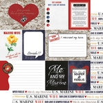 Scrapbook Customs - United States Military Collection - 12 x 12 Double Sided Paper - Marines Wife