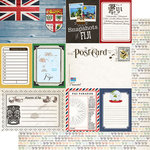 Scrapbook Customs - 12 x 12 Double Sided Paper - Journal - Fiji