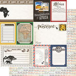 Scrapbook Customs - 12 x 12 Double Sided Paper - Journal - Africa