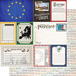 Scrapbook Customs - 12 x 12 Double Sided Paper - Journal - Europe