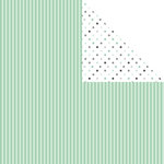 Scrapbook Customs - 12 x 12 Double Sided Paper - Good Luck Stripes and Dots