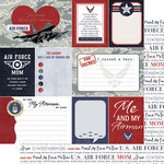 Scrapbook Customs - 12 x 12 Double Sided Paper - Journal - Air Force Mom