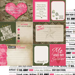 Scrapbook Customs - 12 x 12 Double Sided Paper - Journal - Army Mom
