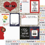 Scrapbook Customs - 12 x 12 Double Sided Paper - Journal - Marines Mom