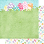 Scrapbook Customs - 12 x 12 Double Sided Paper - Bunches of Eggs