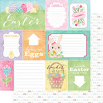 Scrapbook Customs - 12 x 12 Double Sided Paper - Journal Cards - Easter
