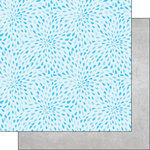 Scrapbook Customs - 12 x 12 Double Sided Paper - Splash Pad Water