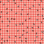 Scrapbook Customs - 12 x 12 Paper - Picnic Ants Checked Plaid