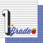 Scrapbook Customs - 12 x 12 Double Sided Paper - 1st Grade Year