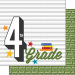 Scrapbook Customs - 12 x 12 Double Sided Paper - 4th Grade Year