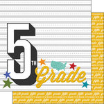Scrapbook Customs - 12 x 12 Double Sided Paper - 5th Grade Year