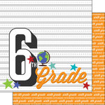Scrapbook Customs - 12 x 12 Double Sided Paper - 6th Grade Year