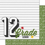 Scrapbook Customs - 12 x 12 Double Sided Paper - 12th Grade Year