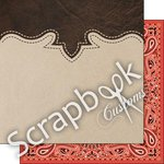 Scrapbook Customs - Fun at the Fair Collection - 12 x 12 Double Sided Paper - Cowboy Rodeo