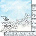Scrapbook Customs - Religious Collection - 12 x 12 Double Sided Paper- In Loving Memory