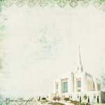 Scrapbook Customs - LDS Collection - 12 x 12 Paper - Ogden Temple Elegance