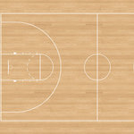 Scrapbook Customs - Sports Collection - 12 x 12 Paper - Basketball Court 3 - Left