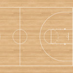 Scrapbook Customs - Sports Collection - 12 x 12 Paper - Basketball Court 3 - Right