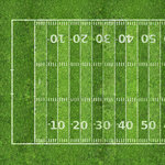 Scrapbook Customs - Sports Collection - 12 x 12 Paper - Football Field 2 - Left