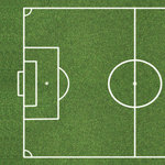 Scrapbook Customs - Sports Collection - 12 x 12 Paper - Soccer Field - Left