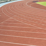 Scrapbook Customs - Sports Collection - 12 x 12 Paper - Track Field - Left