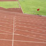 Scrapbook Customs - Sports Collection - 12 x 12 Paper - Track Field - Right