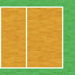 Scrapbook Customs - Sports Collection - 12 x 12 Paper - Volleyball Court - Right