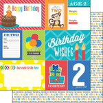 Scrapbook Customs - Happy Birthday Collection - 12 x 12 Double Sided Paper - 2nd Birthday