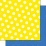 Scrapbook Customs - Happy Birthday Collection - 12 x 12 Double Sided Paper - Yellow Dot