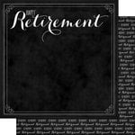 Scrapbook Customs - Retirement Collection - 12 x 12 Double Sided Paper - Happy Retirement
