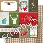Scrapbook Customs - 12 x 12 Double Sided Paper - Burlap Christmas Journal