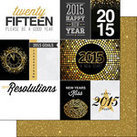 Scrapbook Customs - 12 x 12 Double Sided Paper - 2015 New Years Journal